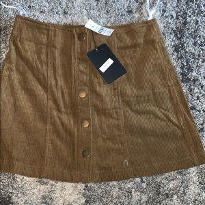 LF Corduroy skirt in tan